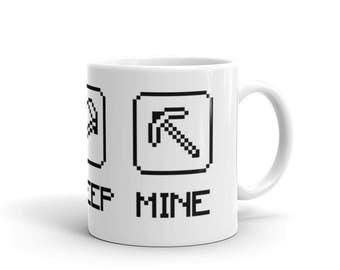 Eat Sleep Mine - Mug - Minecraft, Gaming