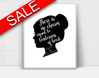 Wall Art Jane Austen Digital Print Jane Austen Poster Art Jane Austen Wall Art Print Jane Austen Quote Art Jane Austen Quote Print Jane