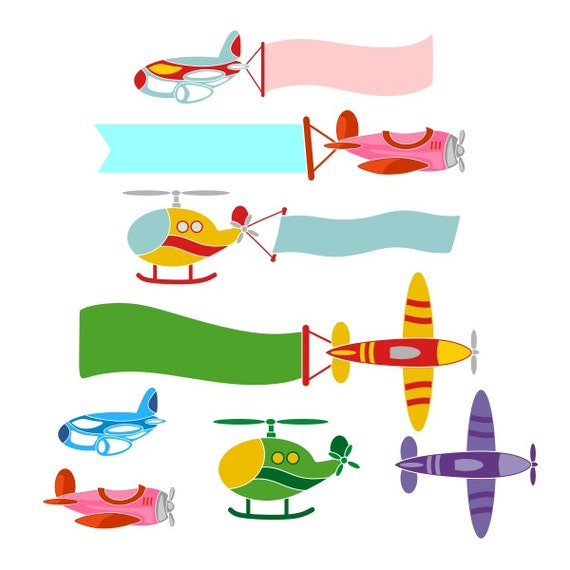 Airplane Banner Frame Cuttable Designs Svg Dxf Eps