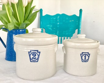 Vintage Farmhouse style Pfaltzgraff french Kitchen Canisters 1 & 2