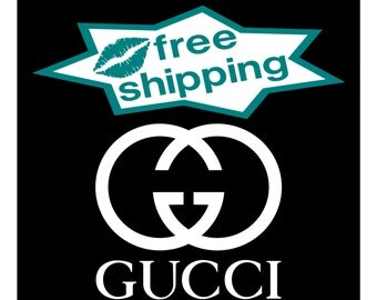 GUCCI DECAL Vinyl Sticker High Quality Fashion Window / Wall Art Decals & Stickers