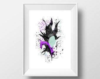 Maleficent, Sleeping Beauty, Disney, Villain *Print*