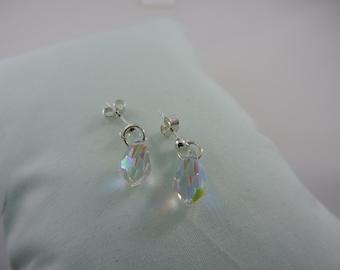 Swarovski Crystal AB Drop Earrings