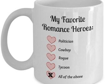 Favorite Romance Heroes Mug 2