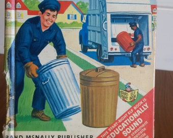 The Disposal Truck vintage Rand McNally Junior elf book