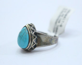 Sterling Silver Turquoise Ring sz6