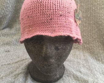 Alpaca mix vintage style cloche hat