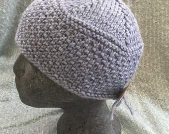 Wool  mix hand knitted hat