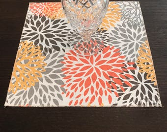 Fall Placemat | Autumn Centerpiece| Wedding Centerpiece | Thanksgiving Placemat | Brown Orange Yellow | Table Square | Bridal Shower