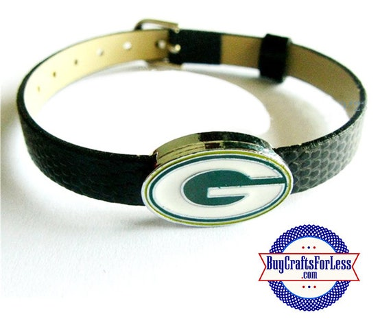 GREEN BAY Charm for Slider Bracelets, Collars, or Key Rings  +FREE Shipping & Discounts*