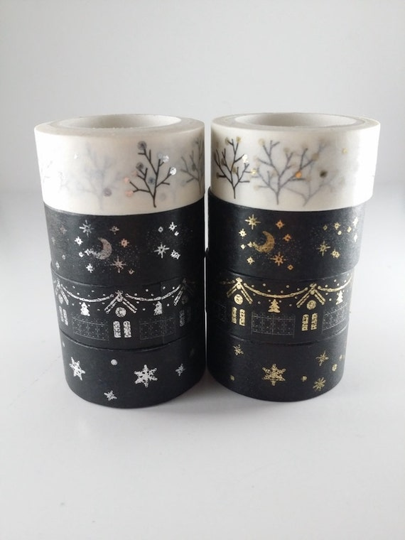 christmas washi tape set of 4 from tapingwithrainbows on etsy studio. Black Bedroom Furniture Sets. Home Design Ideas