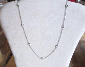Brilliant 0.90 ct diamond necklace white gold 18 kt vs F-coupon discount
