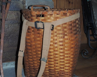 Antique Adirondack Pack Basket