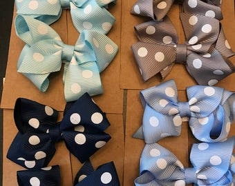 Polka Dot hair clip set