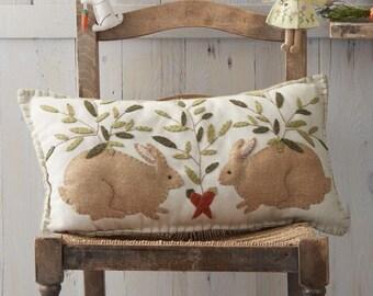 Bunny Cushion - Appliqued Cushion - Easter Bunny