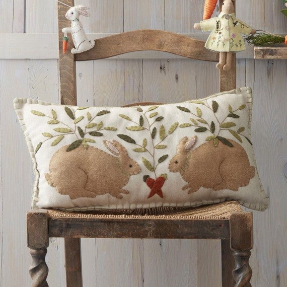 Bunny Cushion - Appliqued Cushion - Easter Bunny