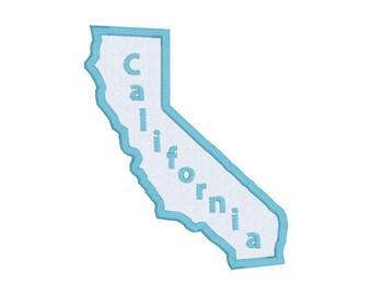 California State Patch, California State Applique, Embroidered California, Iron On Patch, Applique Patch, Embroidered State Patch, US State