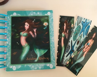 Fantasy Mermaids cover for Erin Condren, Happy Planner and Happy Planner Mini