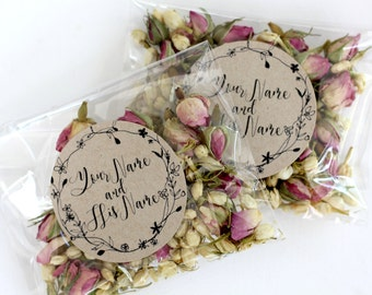 Personalised Wedding Confetti Toss ~ 'ELOPE' Eco Petal Confetti ~ Rose Bud and Jasmine Bud~ Biodegradable