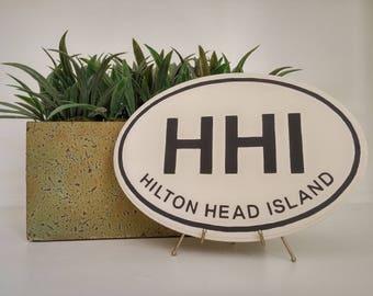 Hilton Head Island SC Wood Oval Plaque