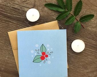 Lovely Leaves Christmas Card
