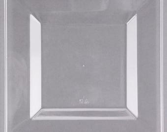 """12-25 10"""" Square Clear Plastic Plate, Wedding Supplies, Wedding, Wedding Decor, Party Supplies, Plastic Plates"""
