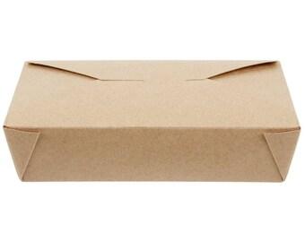 50 PCS 49 oz Kraft Microwavable Paper Take-Out Container, Take Out Boxes, Containers, Take Out Container, Eco-Friendly, Party, Wedding