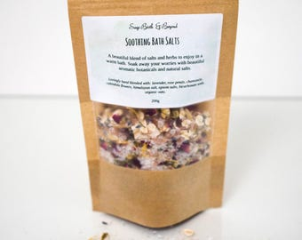 Soothing bath soak- bath herbs-relaxation-bath salts