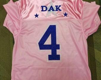 Dallas Cowboys Dak Prescott Pink Jersey