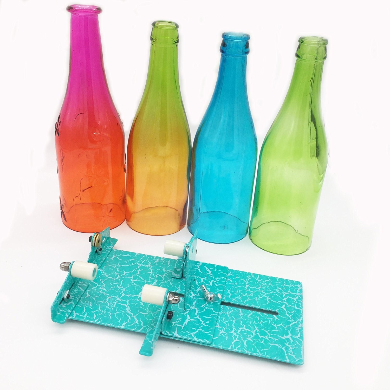 Glass bottle cutter stained glass cutting tool kit glass wine for Glass cutter for wine bottles