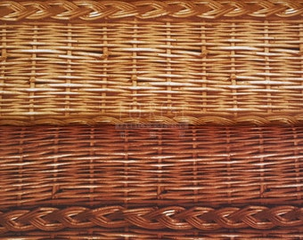 Cosmo oxford fabric - fake print rattan 50cm