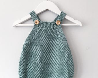 Baby Romper Knitting Pattern - Mio Knitted Onesie PDF Knitting Pattern - Instant Download