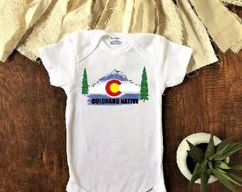 Colorado Native Baby Clothes, Colorado Baby, Colorado Onesie®, Hiking Onesie®, state onesie, mountain baby shower, colorado gifts
