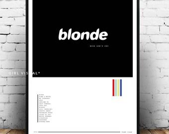 Frank ocean blonde poster, frank ocean album art blonde poster, frank ocean art, frank ocean blonde, frank ocean album print poster, minimal