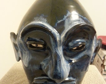 Face Jug by Marvin Bailey  (Stoneware - 10 inches high)