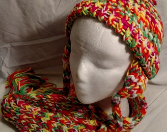 Bold and Bright Beanie and Scarf