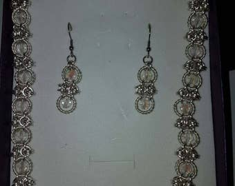 necklace earring and bracelet set