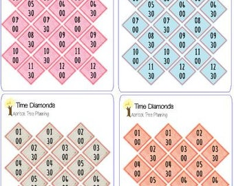 Time Diamonds for your Planner or Calendar