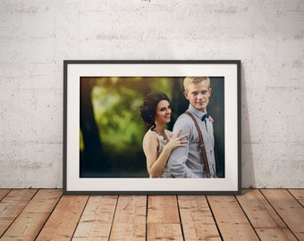 Framed Print Fine Art Wedding Keepsake Anniversary Print Wedding Fine Art Print Giclee Print Custom Wedding Print Artistic Print Wedding