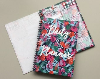 Tropical Planner Notebook, Daily Planner Notebook, To Do List Notebook, Spiral Notebook, Tropical Notebook Planner, Pineapple Planner A5,
