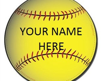 Softball Car Magnets Etsy - Custom car magnets baseball