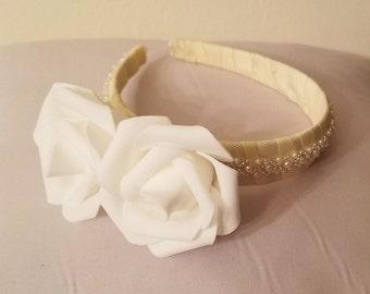 Flower Girl Headband, Wedding Headband