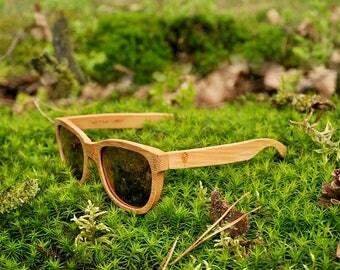 Robin Wood, bamboo wood sunglasses, carbonized bamboo, polarized lenses, UV400. Be eco, plant a tree!