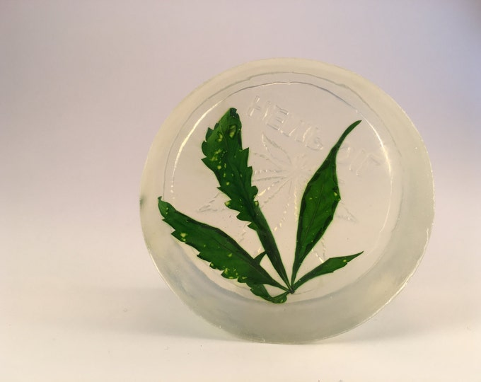 Hemp Soap with Real Hemp Leaf