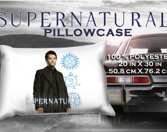 Supernatural Castiel Misha Collins Pillowcase