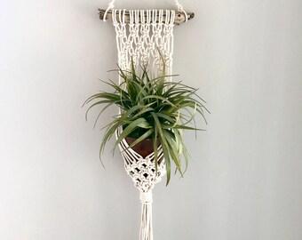 Macrame plant hanger | driftwood macrame plant hanger | plant hanger | boho decor | nursery decor