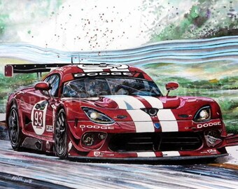Amazing Sport Car Racing Art