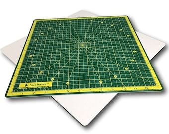 "Self-Healing 14-Inch-by-14-Inch 360 degree Rotating Quilting Cutting Mat (13"" grid)"