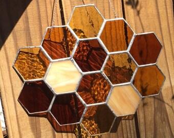Honeycomb Glass Art