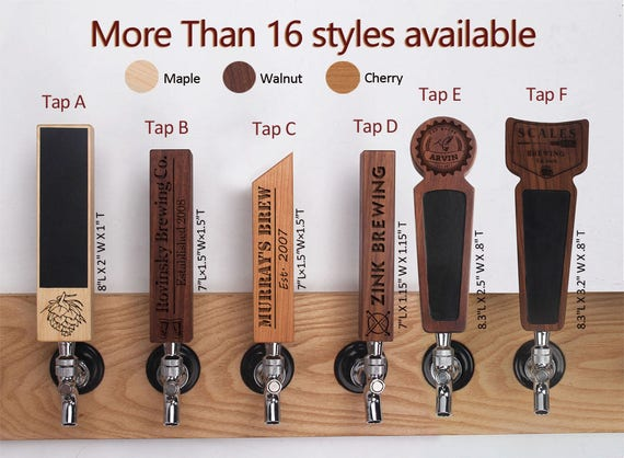 Personalized laser engraved tap handle beer tap handle